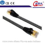 Cavi di Ethernet placcati oro di nylon dell'intrecciatura Cat7