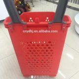 Quatre roues Supermarché Panier en plastique