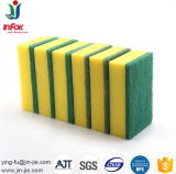 Éponge de cellulose respectueuse de l'environnement de nettoyage de ménage avec la garniture verte