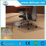 PVC, PC ou couvre-tapis de présidence desserré par préhenseur matérielle faite sur commande de PVC de bureau de PVC