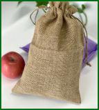 Zoll gedruckte kleines Jutefaser-Geschenk-verpackenbeutel-Beutel