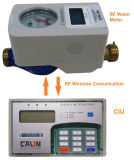 Split Type Residential Prepaid Water Meters RF Communication Electronic Latched Valve
