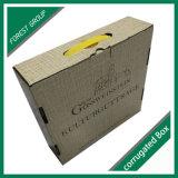 Cartulina de empaquetado superior del rectángulo de regalo del papel de cubierta del tirón