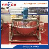 Chauffage industriel et double autocuiseur électrique revêtu de mélange avec l'agitateur