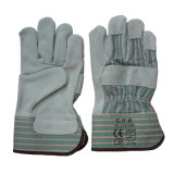 Защитные кожаный перчатки работы безопасности En388 4144