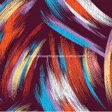 100%Polyester de Afgedrukte Stof van Graffiti van de verf Pigment&Disperse voor de Reeks van het Beddegoed