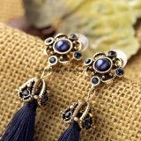 Form-preiswerter Diamant verzierte Troddel-Absinken-baumelnde Ohrringe für Mädchen