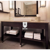 Cuarto de baño Hotel Vanity Desk Canadá con lavabo de madera de la Unidad de Toda vanidad granito Top