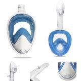 Dry Full Face Diving Masque de plongée sous-marine pour Anti-Foggy, Anti-Vague