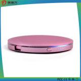 batería redonda de la potencia del espejo del diseño 4400mAh con la iluminación del LED