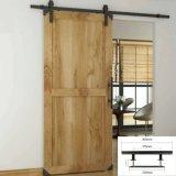 Traitement de porte en bois noir pour le matériel de porte coulissante