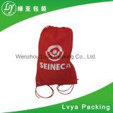 Logo personnalisé impression Varisou Tissu polyester non tissé Sac avec lacet de serrage du caisson de nettoyage