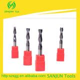 2 bits de Endmill do carboneto da flauta/cortador liso de trituração do CNC da pata longa das ferramentas carboneto de tungstênio