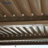 Elektrischer Aluminiumluftschlitz-Dach-Schattierung-Deckel mit Regen-Wind-Fühler