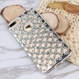 Крышка случая мобильного телефона диаманта TPU на iPhone x