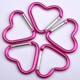 В форме сердечка алюминиевый карабин крюк