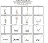 Disegno del reticolo chiave per i monili d'argento di modo della collana 925 della donna (N6660)