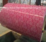 Acciaio rivestito stampato di colore della bobina del rivestimento PPGI del fiore in Rolls