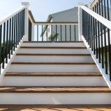 Grand dos noir de balcon et balustres ronds pour des applications extérieures