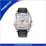 RoHSの実業家のステンレス鋼の明るい正方形の箱のスポーツの腕時計