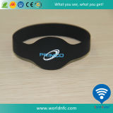 Wristband ultraligero impermeable del silicón 13.56MHz ISO14443A MIFARE EV1 RFID