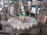 El cristal/automático de llenado de botellas de plástico y el tornillo de la máquina de sellado