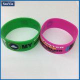Debossed Farben-füllendes Handgelenk-Armband-Silikon-Band