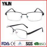 Les hommes Ynjn Cadre Noir de la moitié de lunettes de Châssis Châssis optique