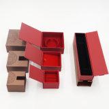 Cadre de bijou de empaquetage de tiroir de papier enduit de papier excentré (J56-E)
