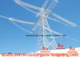Башня передачи подвеса Megatro 800kv 8A1 Jc3
