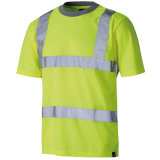 De weerspiegelende T-shirt van het Polo van de Veiligheid van het Zicht van de Strook Hoge van het Katoen van 100%