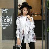 Impresa flor de 2016 de la nueva señora de la manera elegante pañuelo de seda