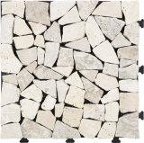 Mattonelle naturali di collegamento esterne del travertino della pietra DIY della pavimentazione del fornitore cinese