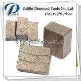 Segmento do diamante da lâmina da máquina-instrumento do cortador do granito para a laje de pedra