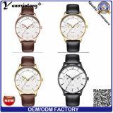Yxl-559 ultra delgado de alta calidad 5 manos hombre de negocios reloj, mira mira de lujo, 3 ATM reloj de acero inoxidable