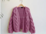 Personalizar qualquer estilo de novo design de alta qualidade Suéter Cardign tricotado de mão