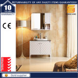 Европейская мебель шкафа ванной комнаты твердой древесины с зеркалом
