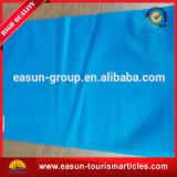 Hotel almohada cubierta con el color azul $ el logotipo del cliente.