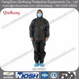 非編まれた研修会またはクリーンルームまたは実験室の保護つなぎ服