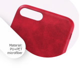 Rojo antideslizamiento de moda accesorios de telefonía celular móvil caso
