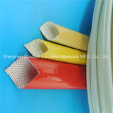 Sleeving elétrico da isolação trançada impermeável da fibra de vidro do poliuretano
