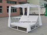 De openlucht Zitkamer van de Zon van het Strand met het Aluminium Sunbed van de Tent