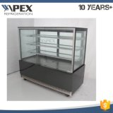 Stainless Steel High Quality Deli Cake Showcase Display Cooler com display LED