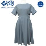 Manga Corta gris moda señoras línea Dress