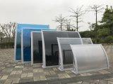 Baldacchini insonorizzati della pioggia di ombreggiatura del portello del policarbonato della materia plastica