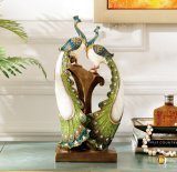 Павлин изготовленный на заказ рождества корабля искусствоа подарка декоративный искусственний белый