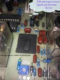 Máquina de soldadura dobro de alta freqüência da estação para a gravação da parte superior de sapatas
