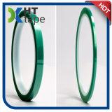 Nastro protettivo a temperatura elevata di verde del poliestere di 180 C