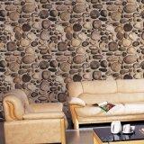 Papel pintado de la sala de estar 3D de la decoración del hogar del diseño de la piedra del río