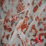 Tela tingida poliéster 100% do Chiffon do jacquard